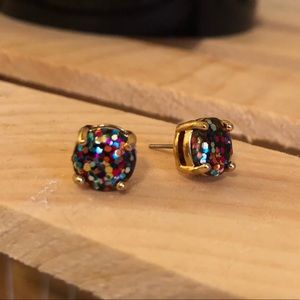 Multi-color confetti Kate Spade earrings